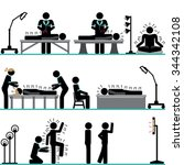 acupuncture professional... | Shutterstock .eps vector #344342108