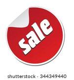 sticker sale | Shutterstock .eps vector #344349440