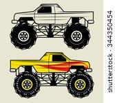Race Truck  Vector Illustration