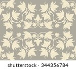 topical seamless simple floral...   Shutterstock .eps vector #344356784