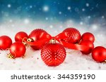 christmas background with red...   Shutterstock . vector #344359190
