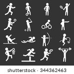 sports symbol for web icons | Shutterstock .eps vector #344362463