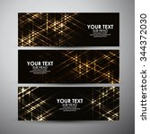 vector banners set with... | Shutterstock .eps vector #344372030