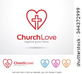 church love logo template... | Shutterstock .eps vector #344372999