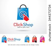 click shop logo template design ... | Shutterstock .eps vector #344373734