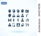 business man icons | Shutterstock .eps vector #344374058