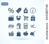 shopping icons | Shutterstock .eps vector #344380748