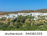 panoramic view of the greek... | Shutterstock . vector #344381333