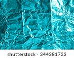 crumpled foil texture background | Shutterstock . vector #344381723