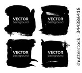 square black banners from thick ... | Shutterstock .eps vector #344386418