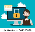 security system and... | Shutterstock .eps vector #344390828