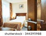 hotel room or apartment doorway ... | Shutterstock . vector #344395988
