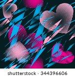 abstract seamless vector... | Shutterstock .eps vector #344396606