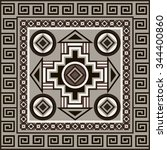navajo art boho seamless... | Shutterstock . vector #344400860