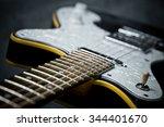 an electric guitar details ...   Shutterstock . vector #344401670