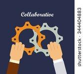 colaborative people design ... | Shutterstock .eps vector #344404883