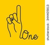hand gestures design  vector...   Shutterstock .eps vector #344405813