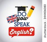 learn english design  vector... | Shutterstock .eps vector #344406080