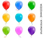 collection of color balloons | Shutterstock .eps vector #344410334