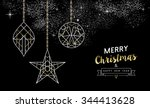 merry christmas happy new year... | Shutterstock .eps vector #344413628