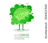 bright cartoon style vegetable... | Shutterstock .eps vector #344421560