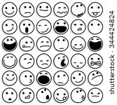 caricature emoticons on white....