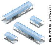 pedestrian subway. underpass.... | Shutterstock .eps vector #344428844