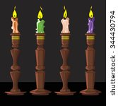 Vector Illustration Of A Candl...