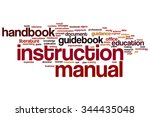 instruction manual word cloud | Shutterstock . vector #344435048