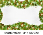stylized new year frame for... | Shutterstock . vector #344439920