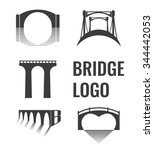 vector set of bridge connection ... | Shutterstock .eps vector #344442053