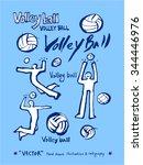 sports poster illustration  ... | Shutterstock .eps vector #344446976