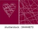 valentine background. heart   Shutterstock .eps vector #34444873