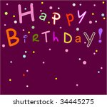 congratulatory card   Shutterstock .eps vector #34445275