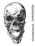 vector skull | Shutterstock .eps vector #344456906