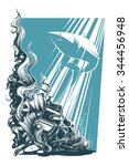 dead diver   Shutterstock .eps vector #344456948