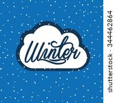 winter season design  vector... | Shutterstock .eps vector #344462864