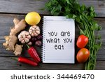 you are what you eat  health... | Shutterstock . vector #344469470