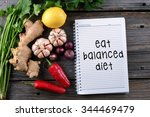 eat balanced diet  health... | Shutterstock . vector #344469479