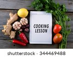 cooking lesson  conceptual... | Shutterstock . vector #344469488