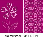 vector floral card | Shutterstock .eps vector #34447844