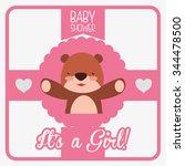 baby shower invitation card... | Shutterstock .eps vector #344478500