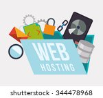 web hosting and cloud computing ... | Shutterstock .eps vector #344478968