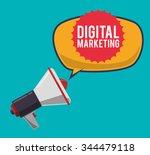 digital marketing and... | Shutterstock .eps vector #344479118