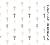 dandelion. seamless floral... | Shutterstock .eps vector #344489546