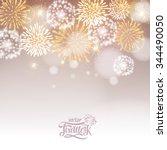 vector holiday firework | Shutterstock .eps vector #344490050