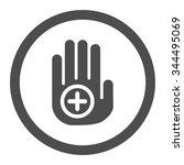 hand medical marker vector icon.... | Shutterstock .eps vector #344495069