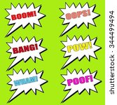 comic  speech bubble set comic... | Shutterstock . vector #344499494