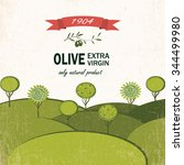 olive label design | Shutterstock .eps vector #344499980