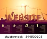 website construction | Shutterstock .eps vector #344500103